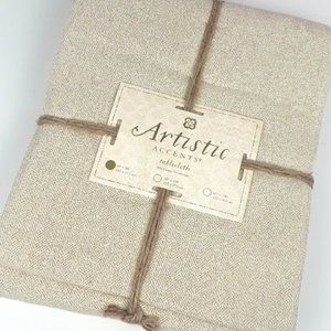 Artistic Accents Beige Tablecloth